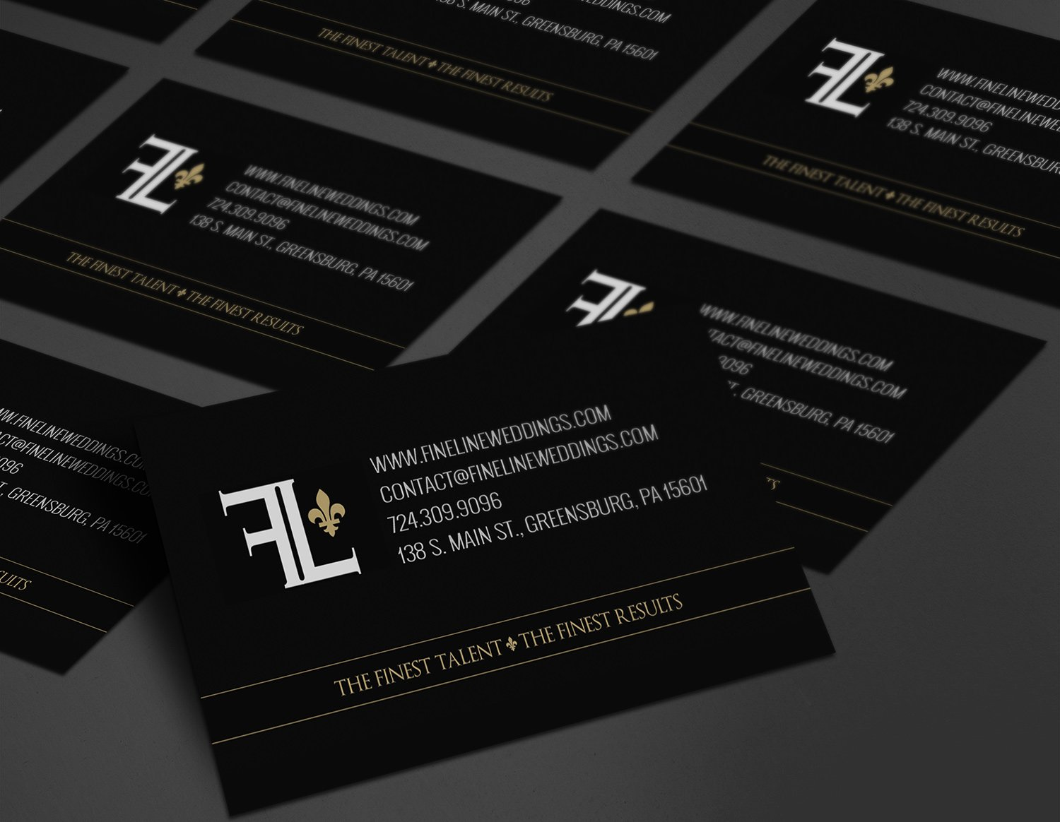 FineLine Business Card Design – The Really Awesome Little Marketing Co